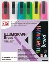 Zig Posterman 510 illumigraph marker 6mm, 6 farver