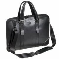 Pierre CLASSIC LINE Dame computertaske i ægte sort læder