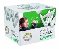 Linex CCCHW støvfrie hvide kridt, æske med 100 stk