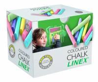 Linex CCCHC støvfrie farvede kridt, æske med 100 stk