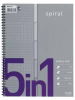 Bantex kollegieblok A4 med spiralryg og 5 index faner