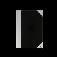 Bantex kinabog A5 linjeret sort og sølv