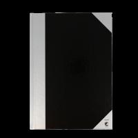 Bantex kinabog A4 linjeret sort og sølv
