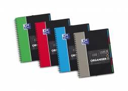 Oxford organiserbook student notes kvadreret 5x5 A4+