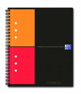 Oxford International ActiveBook A5+ kvadreret