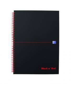Oxford Black n´Red karton notesbog A4 linieret