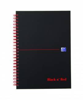 Oxford Black n´Red karton notesbog A5 linieret