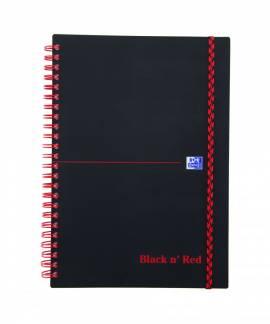 Oxford Black n´Red PP notesbog A5 linieret