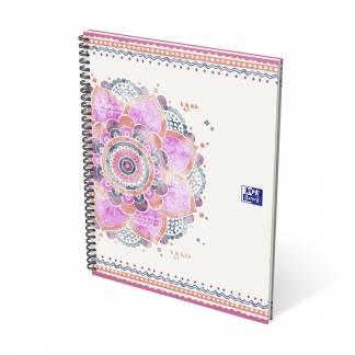 Oxford Boho Chic notesbog med spiral A4+ linieret