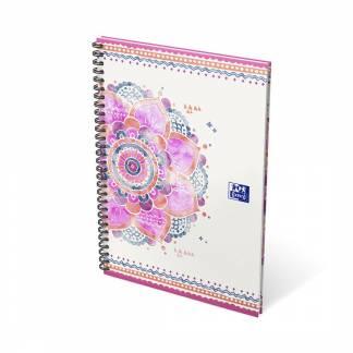 Oxford Boho Chic notesbog med spiral B5 linieret