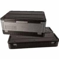 Flip-Box Termokasse EPP 600x400x250mm 39 liter med låg grå