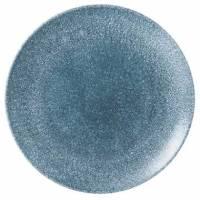 Churchill Raku Coupe Topaz porcelæn tallerken Ø26cm blå