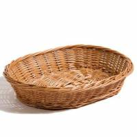 Brødkurv håndlavet 35x28x7 cm flet brun