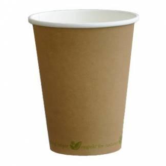 Catersource kaffebæger 25 cl Ø80mm Bionedbrydelig brun