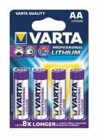Varta Lithium PRO 6106 LR 6 AA batteri, pakke a 4 stk