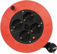 Kabeltromle Saftey Plug 5 meter H05VV-F 3x1,5mm2 rød og sort