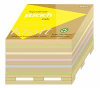 Stick'N kubusblok notes 76x76mm med 400 ark på pallebund