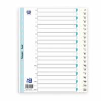 Elba Strongline register A4 Maxi hvid med sorte tal A-Å