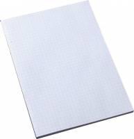 Standardblok A4 uden huller toplimet kvadreret 60g hvid