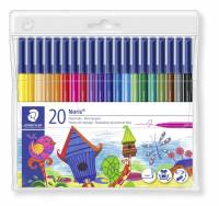 Staedtler Noris Club farvetusser 1,0mm, 20 stk ass