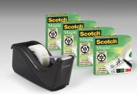 Scotch Magic tape 4 ruller 19mmx33m + 1 3M tapedispenser gratis
