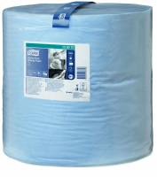 Tork aftørringspapir Kraftig W1 2-lags 130070 blå
