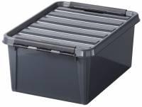 Plastkasse Smart Store 15 liter med låg grå