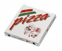 Pizzaæske med neutralt tryk 24x24x3cm