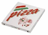 Pizzaæske med neutralt tryk 32x32x3cm