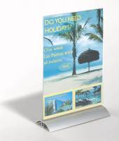 Durable bordskilteholder de luxe aluminium og akryl A4