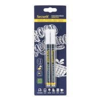 Securit Chalkmarker 1-2mm hvid, 2 stk pakke