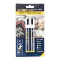Securit Chalkmarker 2-6mm hvid, sæt med 2 stk
