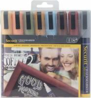 Securit Chalkmarker earth tones 2-6mm, sæt med 8 farver