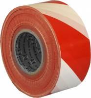 Afspærringsbånd 75mmx500m rød og hvid