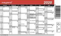 Mayland mini kalender 12x7cm 20052000
