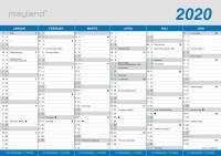 Mayland kontorkalender A4 Klassisk 30x21cm 20059000