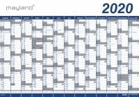 Mayland kæmpekalender 13mdr PP plast 100x70cm 20065100