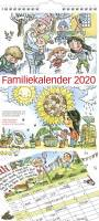 Mayland familiekalender med illustration 23x50cm 20066100
