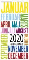 Mayland familiekalender Trendart 22x43cm 20066190