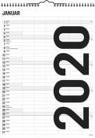 Mayland familiekalender Sort-Hvid 29,4x39cm 6 kolonner 20066500