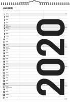 Mayland familiekalender Sort-Hvid 21x29,7cm 2 kolonner 20066510