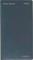 Mayland Indexplanner vinyl grå foldet 9x17cm 20081000