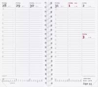 Mayland weekplanner REFILL uge 9,5x17cm højformat 20088500