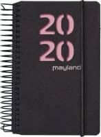 Mayland minispiralkalender 8x13cm 1dag pr side sort med 2 farver