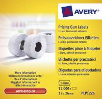 Avery prisetiketter til Single Line 26x12mm PLP1226 permanent hvid