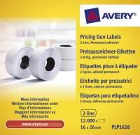 Avery prisetiketter til Double Line 26x16mm hvid