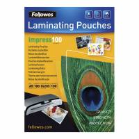 Fellowes lamineringslommer A5 100 mic. blank