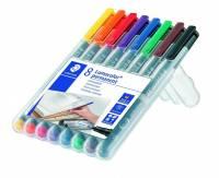 OHP-pen Lumocolor ass F 0,6mm 318WP-8 permanent