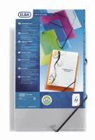 Elba Polyvision elastik samlemappe 3-klap transparent