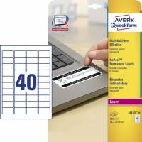 Avery plombering etiketter L6145-20 45,7x25,4mm hvid